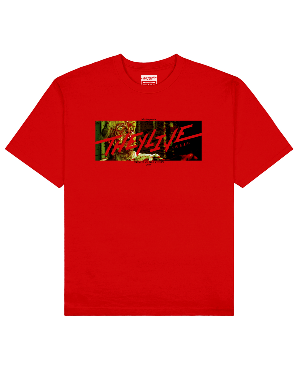 Prince Of Darkness Print T-Shirt in Red - T-Shirts - THEYLIVE - BRANMA