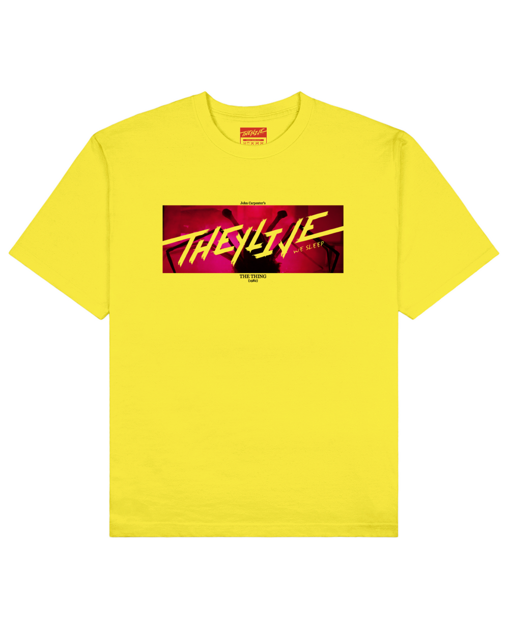 The Thing Print T-Shirt in Yellow - T-Shirts - THEYLIVE - BRANMA