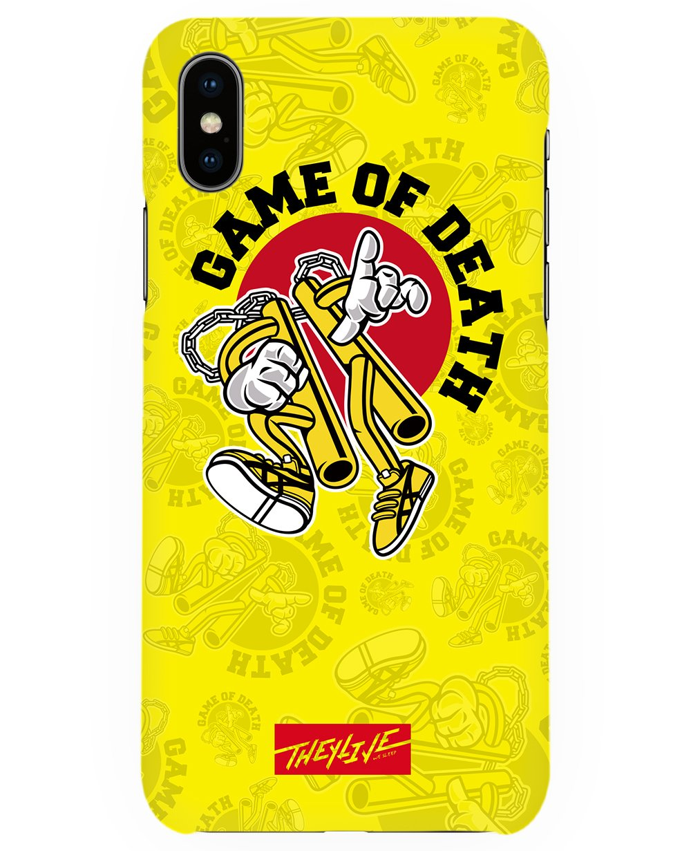 Game Of Death Print Iphone Case in Yellow - Phone cases - THEYLIVE - BRANMA