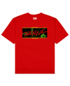 UMA Collection : The Rack Print T-Shirt in Red - T-Shirts - THEYLIVE - BRANMA