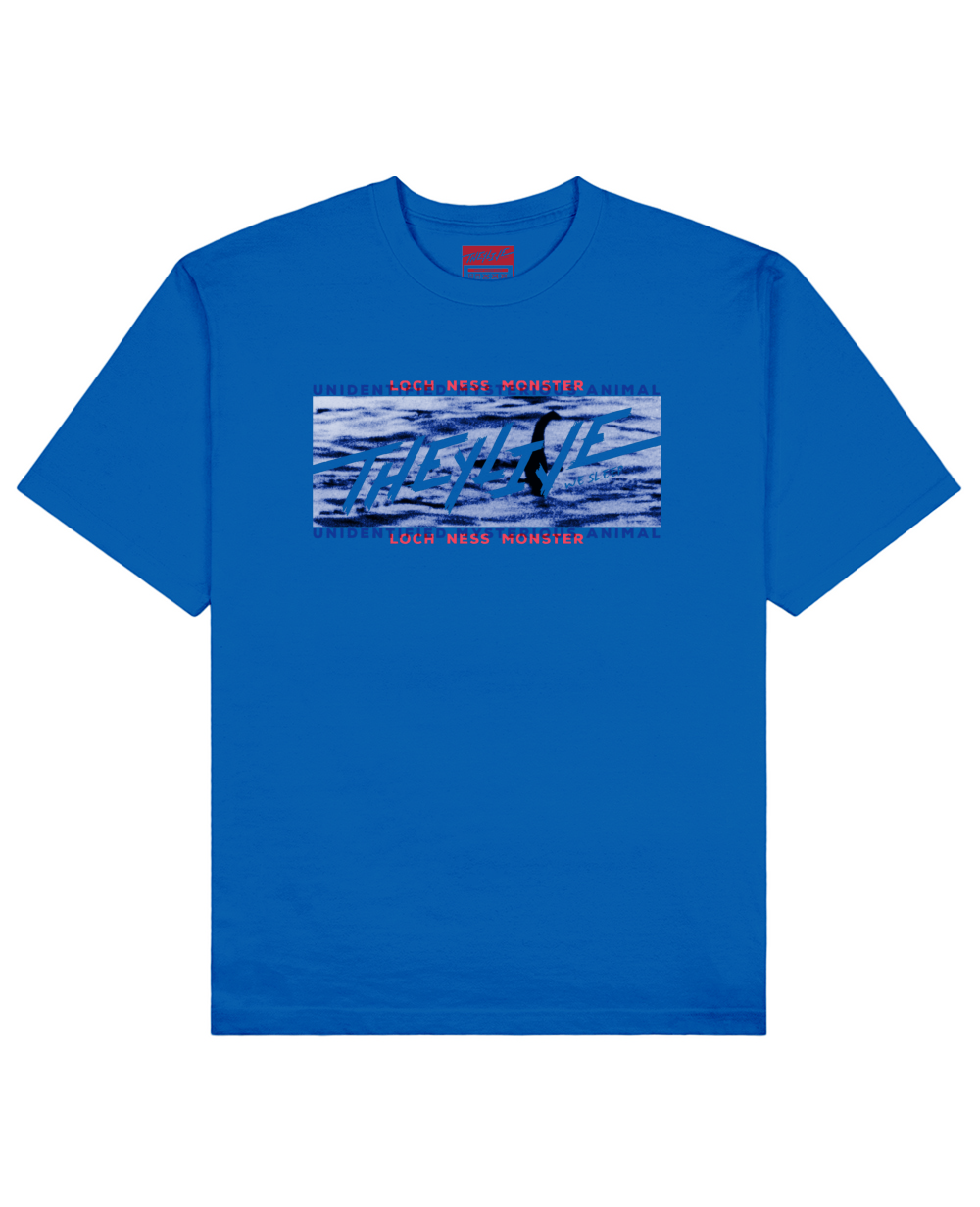 UMA Collection : Loch Ness Monster Print T-Shirt in Blue - T-Shirts - THEYLIVE - BRANMA