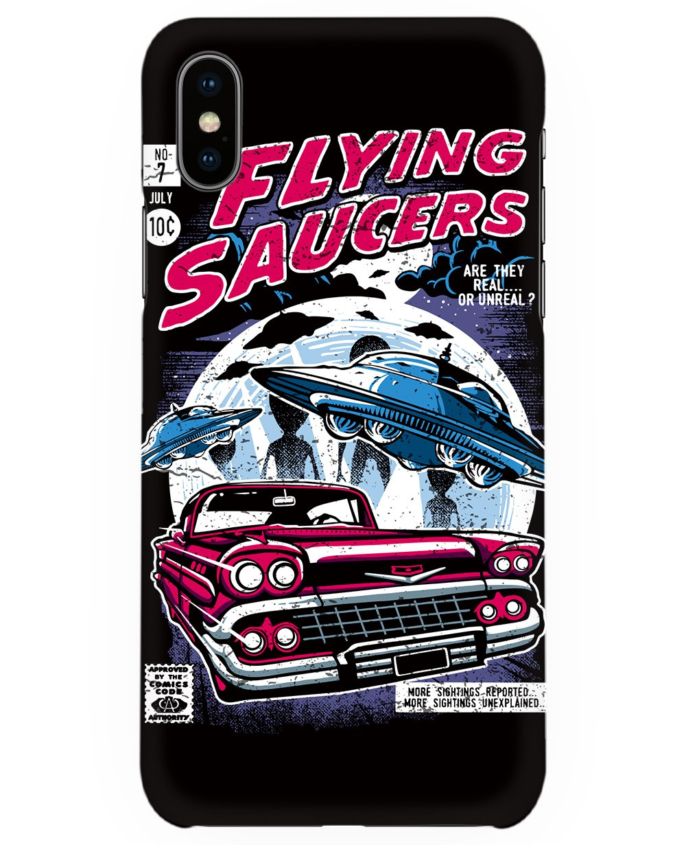 Flying Saucers Print Iphone Case - Phone cases - THEYLIVE - BRANMA