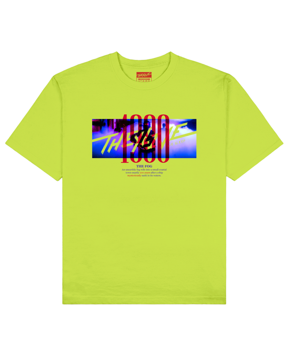 The Fog Print T-Shirt in Light Green - T-Shirts - THEYLIVE - BRANMA