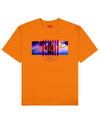 The Fog Print T-Shirt in Orange - T-Shirts - THEYLIVE - BRANMA