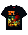 Motel Hell Print T-Shirt in Black - T-Shirts - THEYLIVE - BRANMA