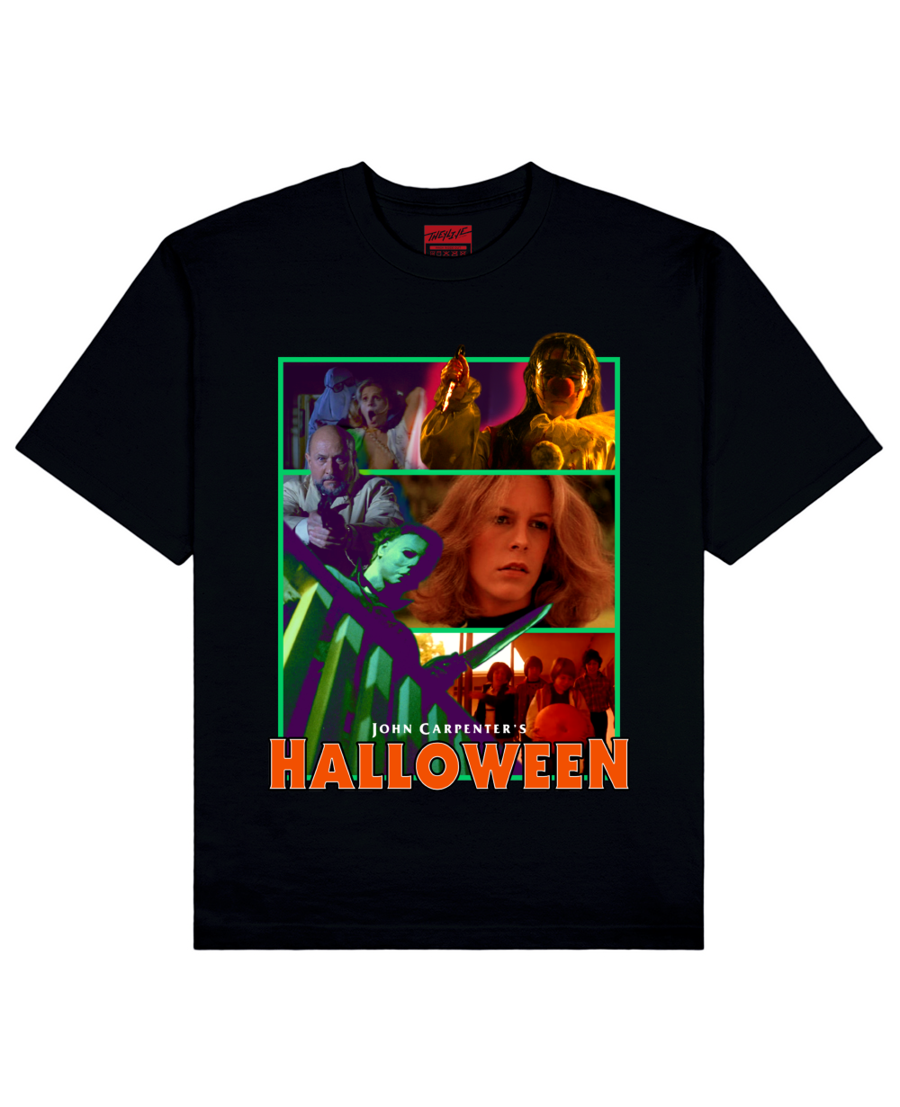 HALLOWEEN Print T-Shirt in Black - T-Shirts - THEYLIVE - BRANMA