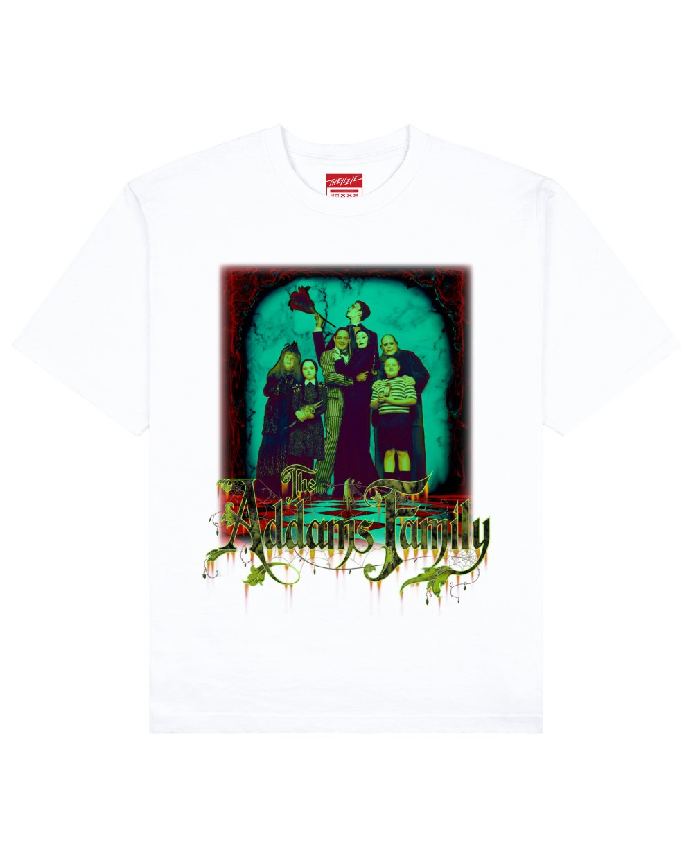 The Addams Family Print T-Shirt in White