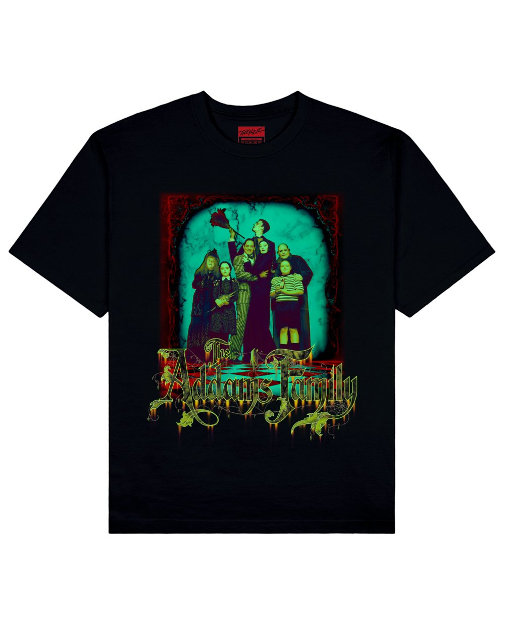 The Addams Family Print T-Shirt in Black