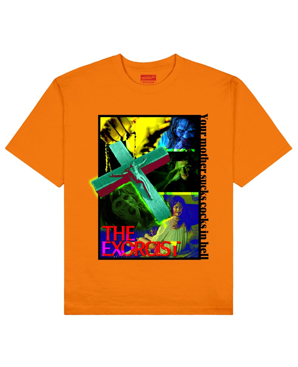 The Exorcist Print T-Shirt in Orange