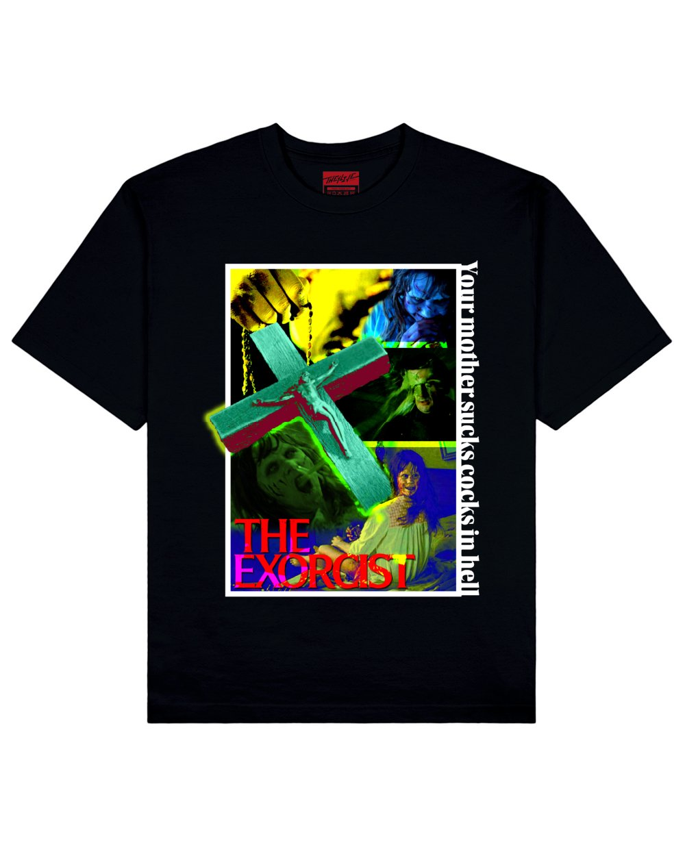 The Exorcist Print T-Shirt in Black