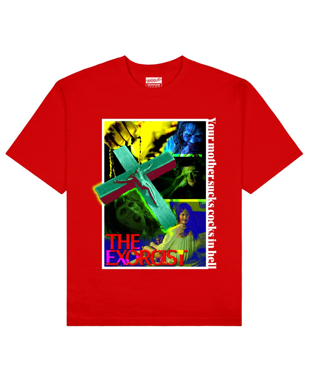The Exorcist Print T-Shirt in Red