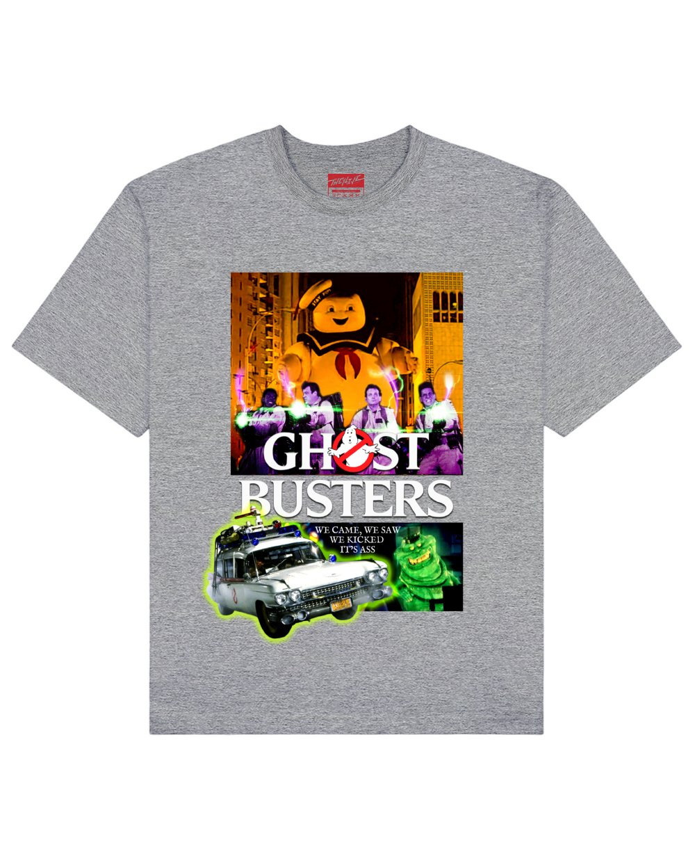 Ghost Busters Print T-Shirt in Gray