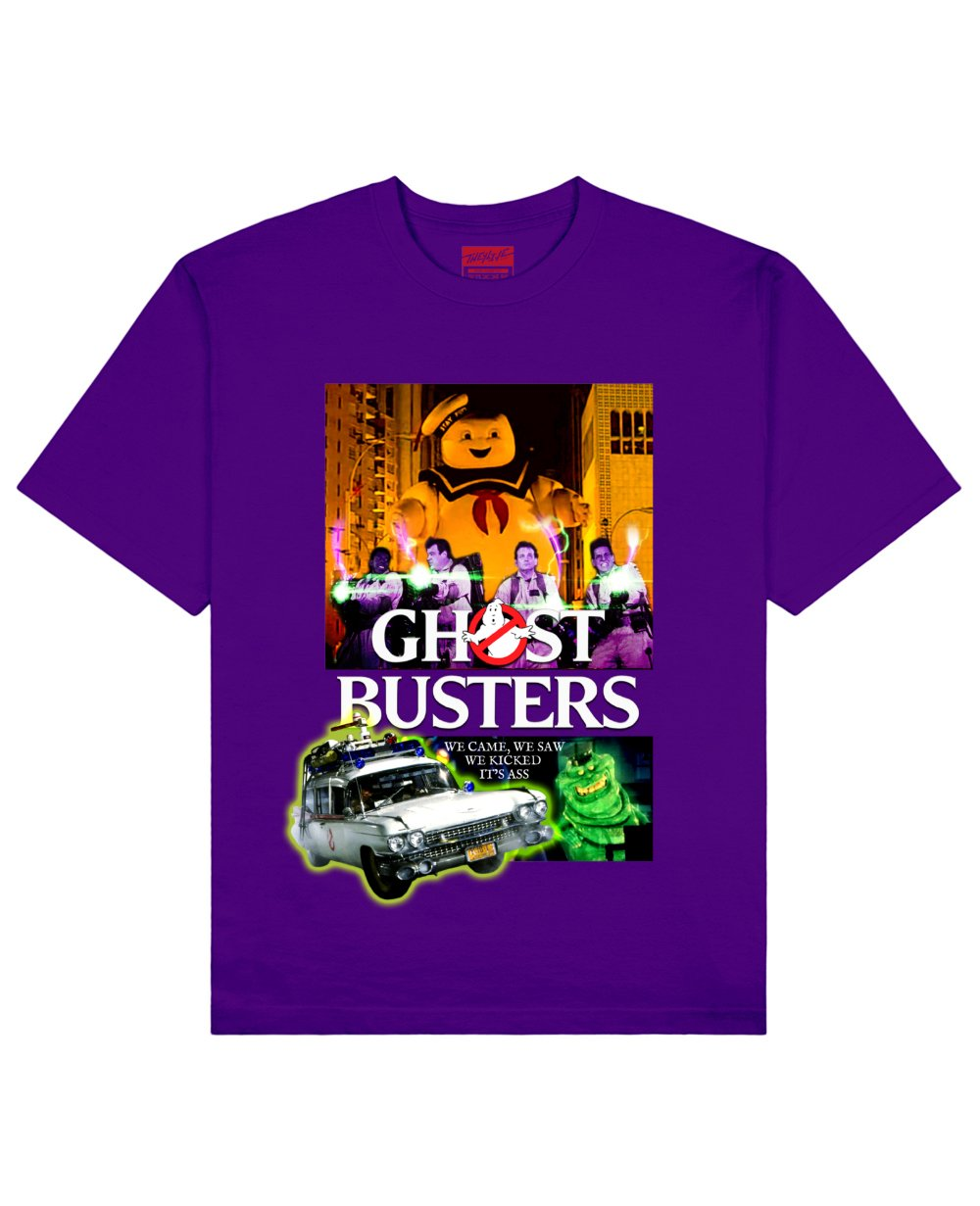Ghost Busters Print T-Shirt in Purple