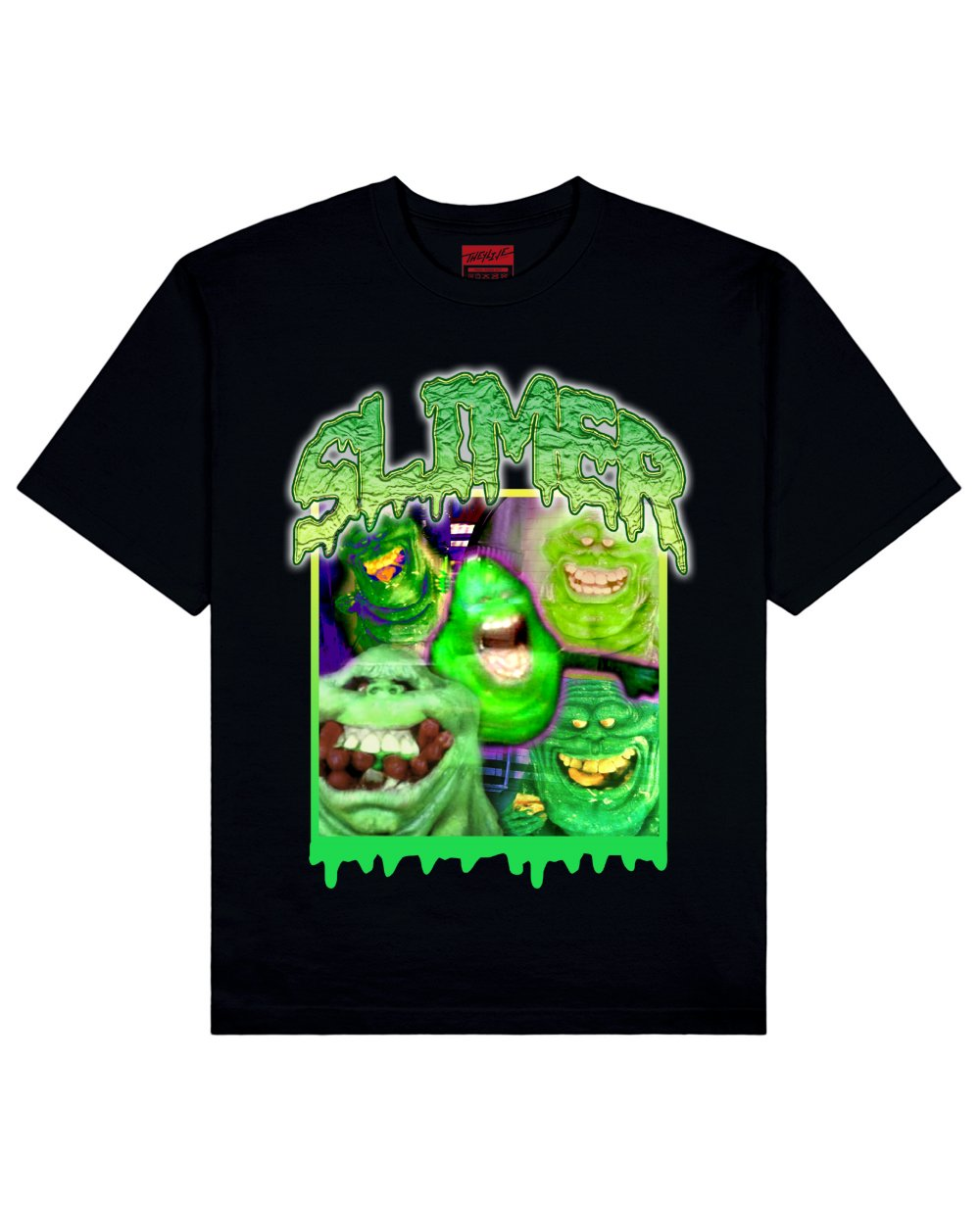 Ghost Busters : Slimer Print T-Shirt in Black