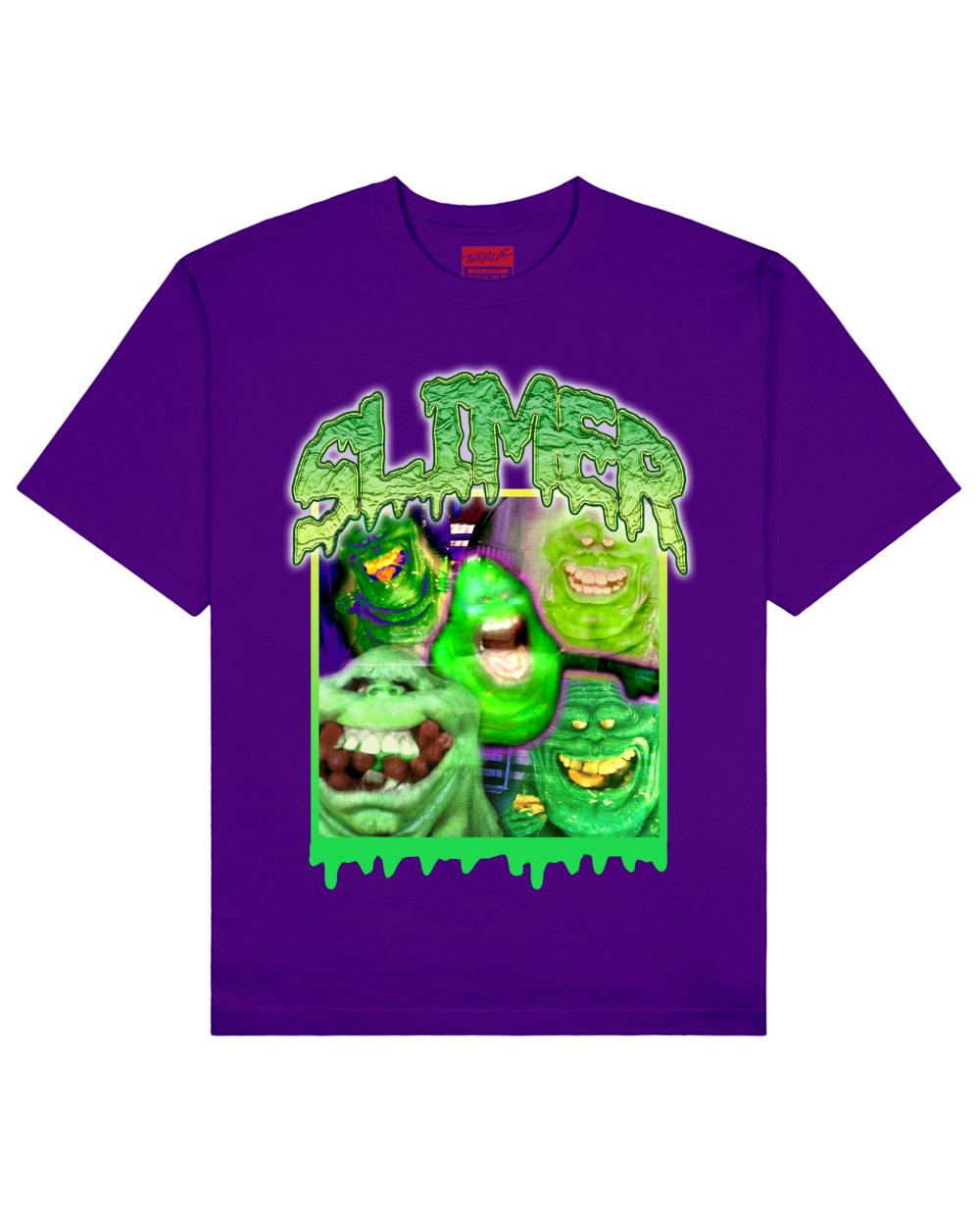 Ghost Busters : Slimer Print T-Shirt in Purple