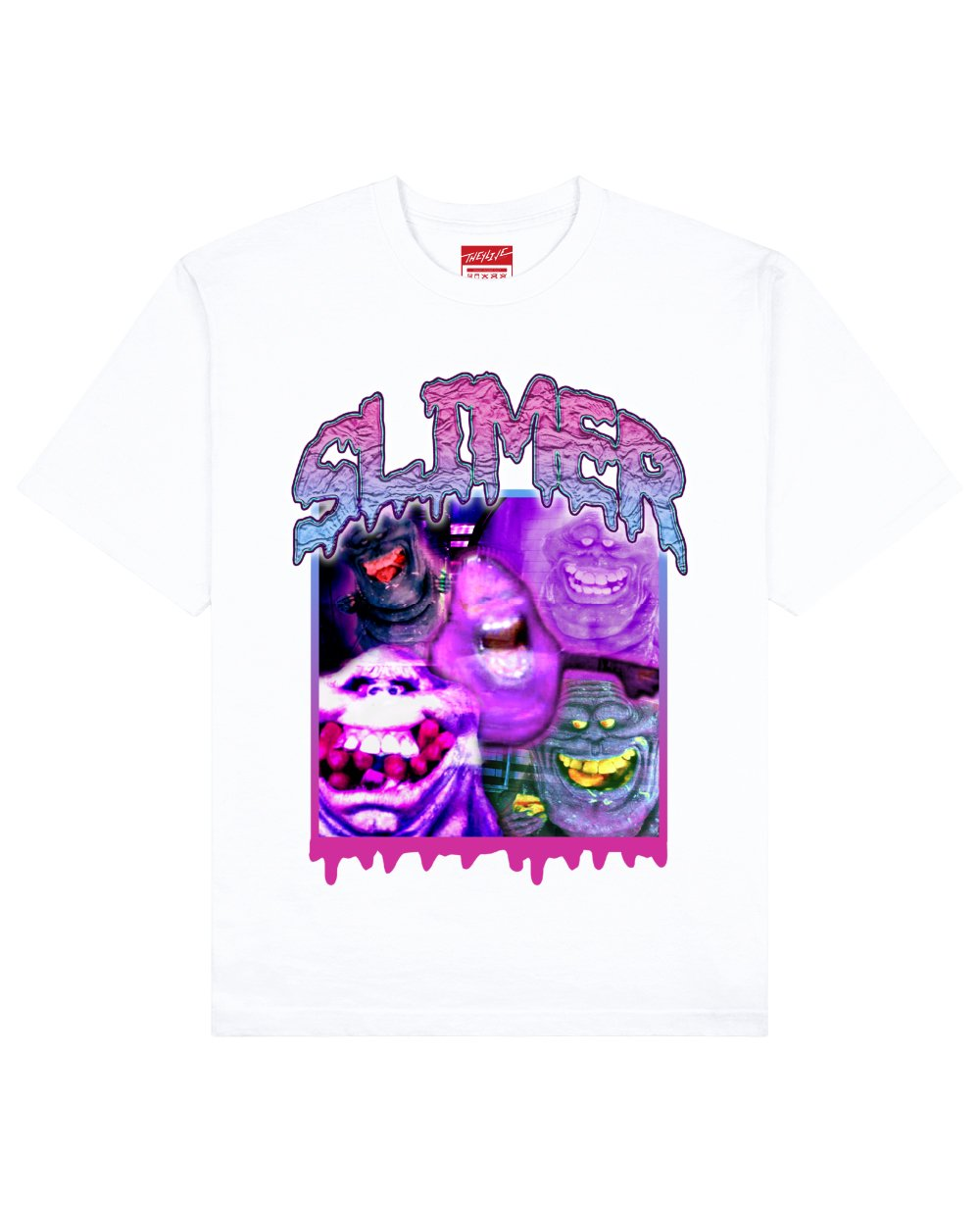 Ghost Busters : Slimer Print T-Shirt in White