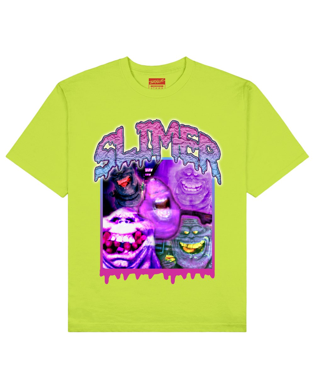 Ghost Busters : Slimer Print T-Shirt in Light Green