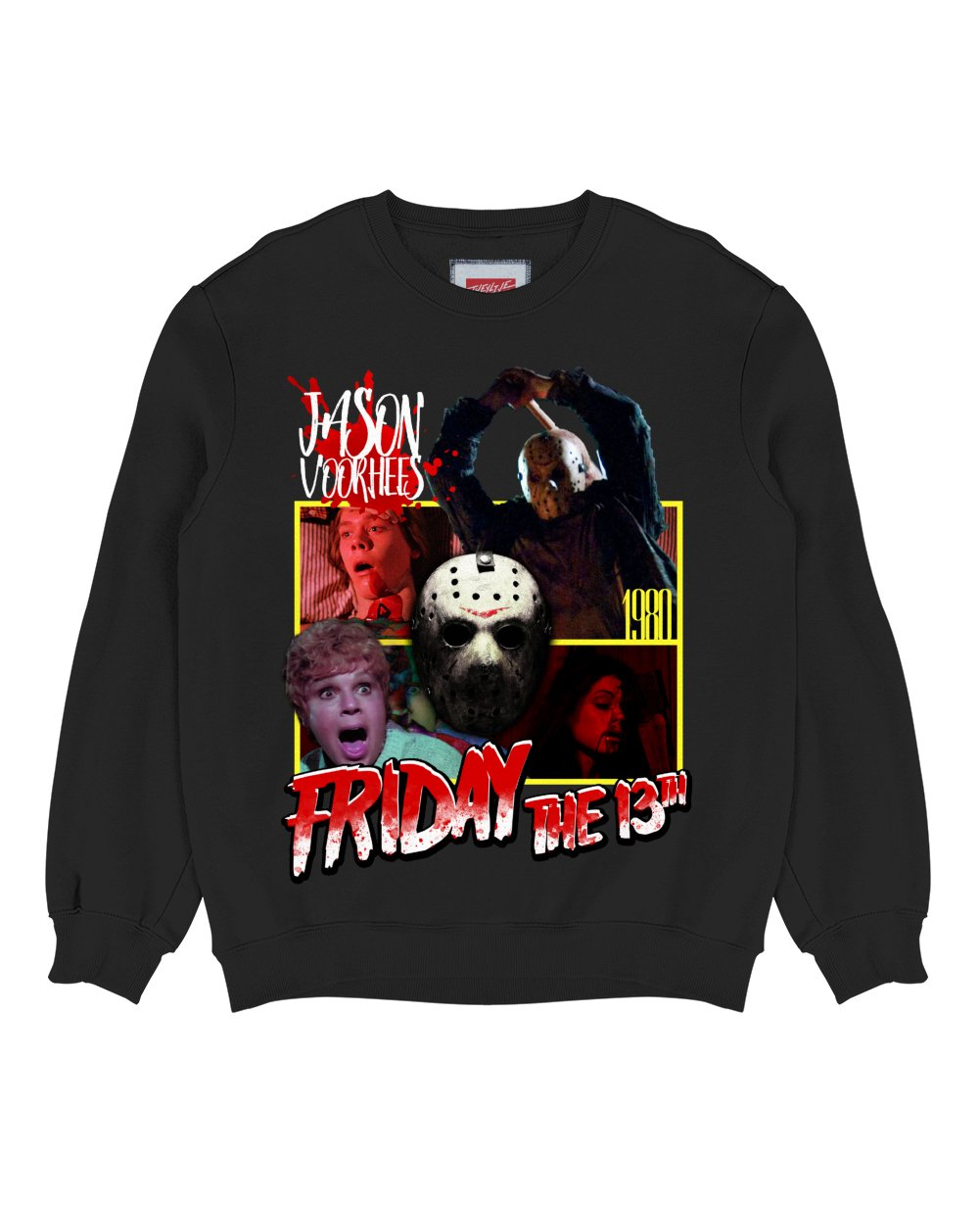 Friday The 13th Print Sweatshirt in Black