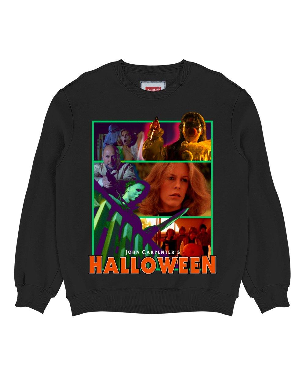 HALLOWEEN Print Sweatshirt in Black