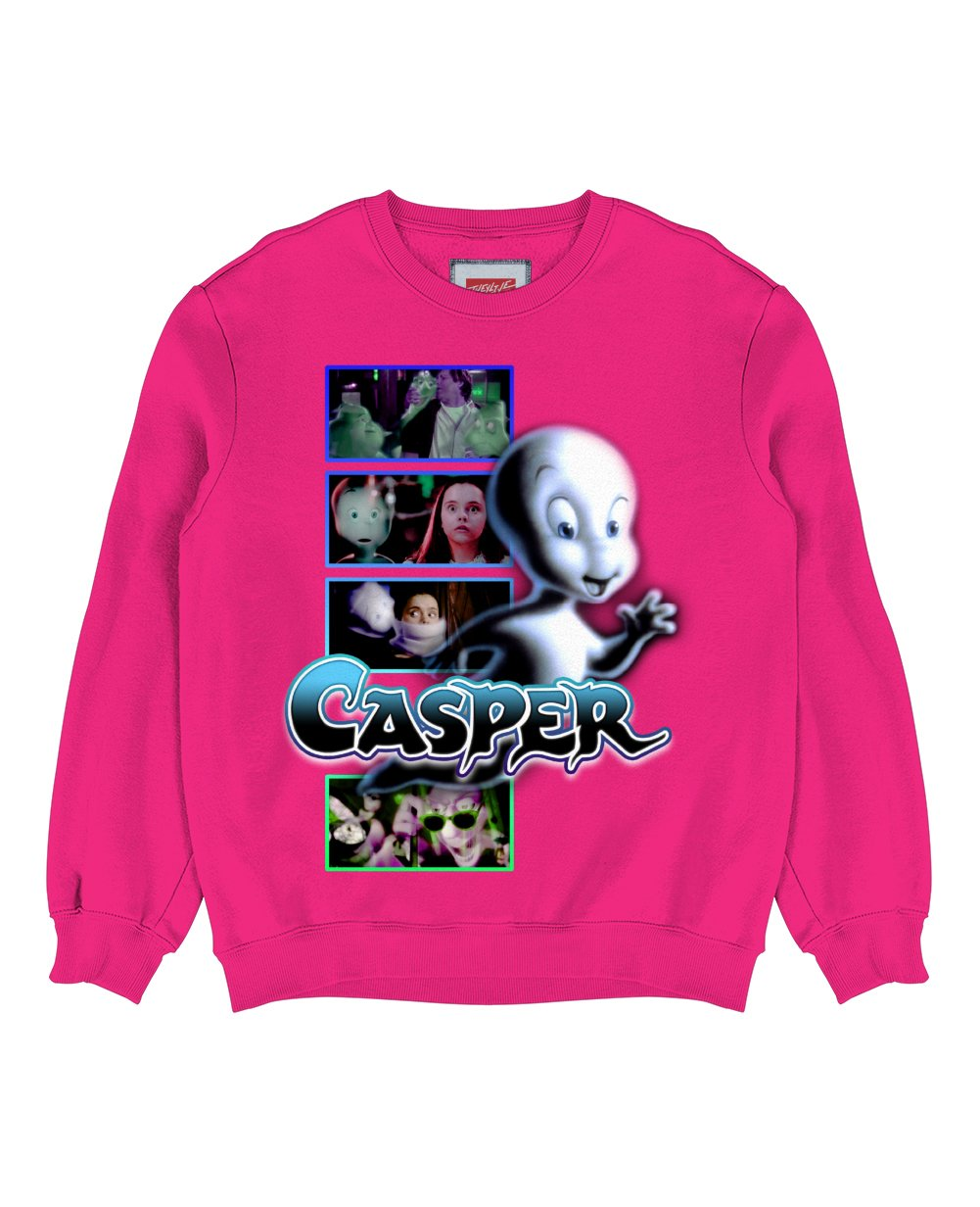 Casper Print Sweatshirt in Fresh Pink