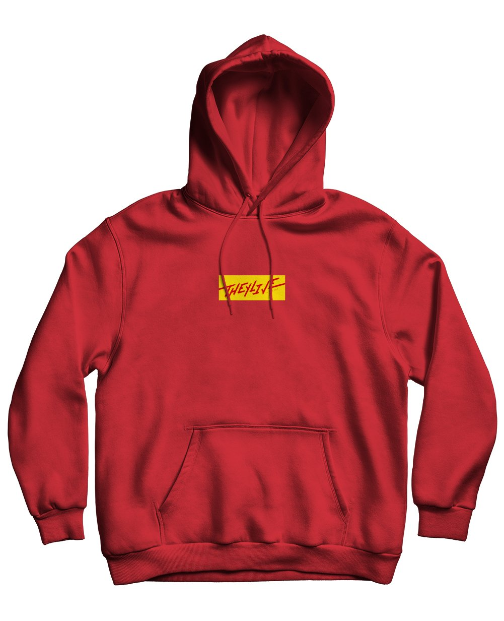 The Shining Print Hoodies in Red