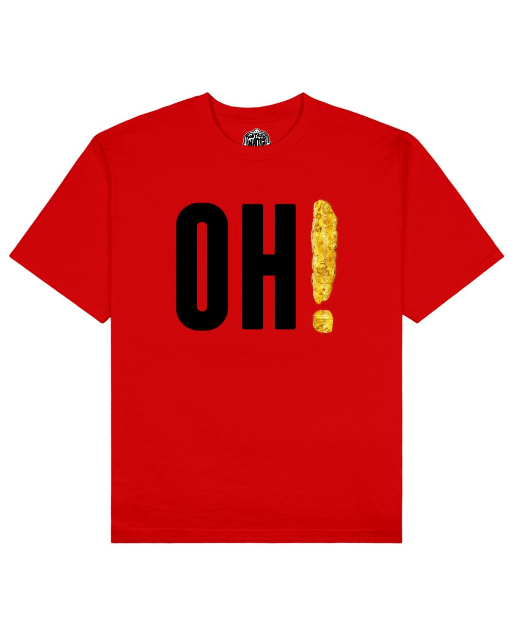 OH! Print T-shirt in Red - T-Shirts - Don't ask me who I am - BRANMA