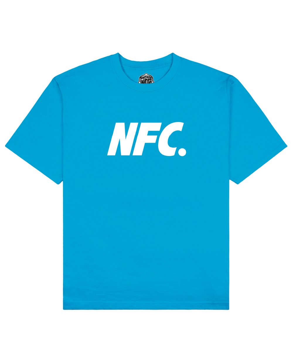 NFC Print T-shirt in Ocean Blue - T-Shirts - Don't ask me who I am - BRANMA