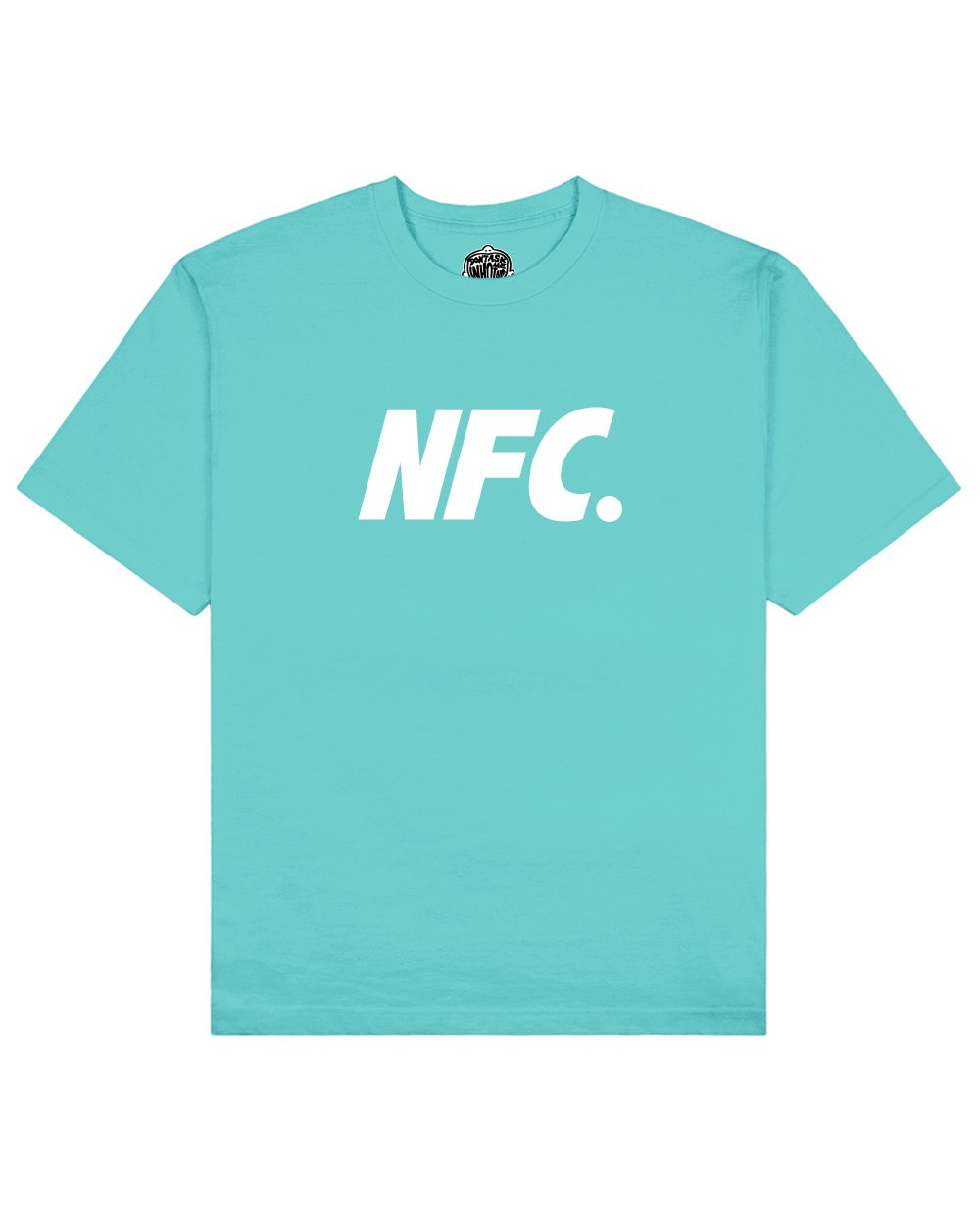 NFC Print T-shirt in Aqua - T-Shirts - Don't ask me who I am - BRANMA