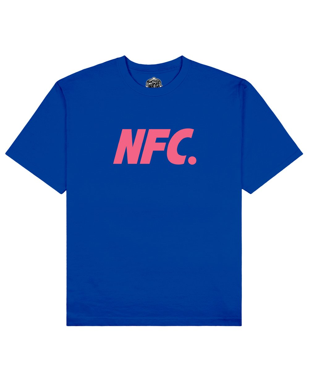 NFC Print T-shirt in Blue - T-Shirts - Don't ask me who I am - BRANMA