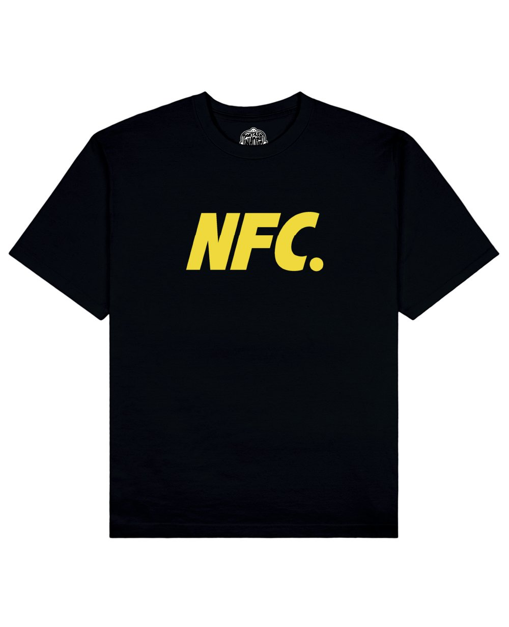 NFC Print T-shirt in Black - T-Shirts - Don't ask me who I am - BRANMA