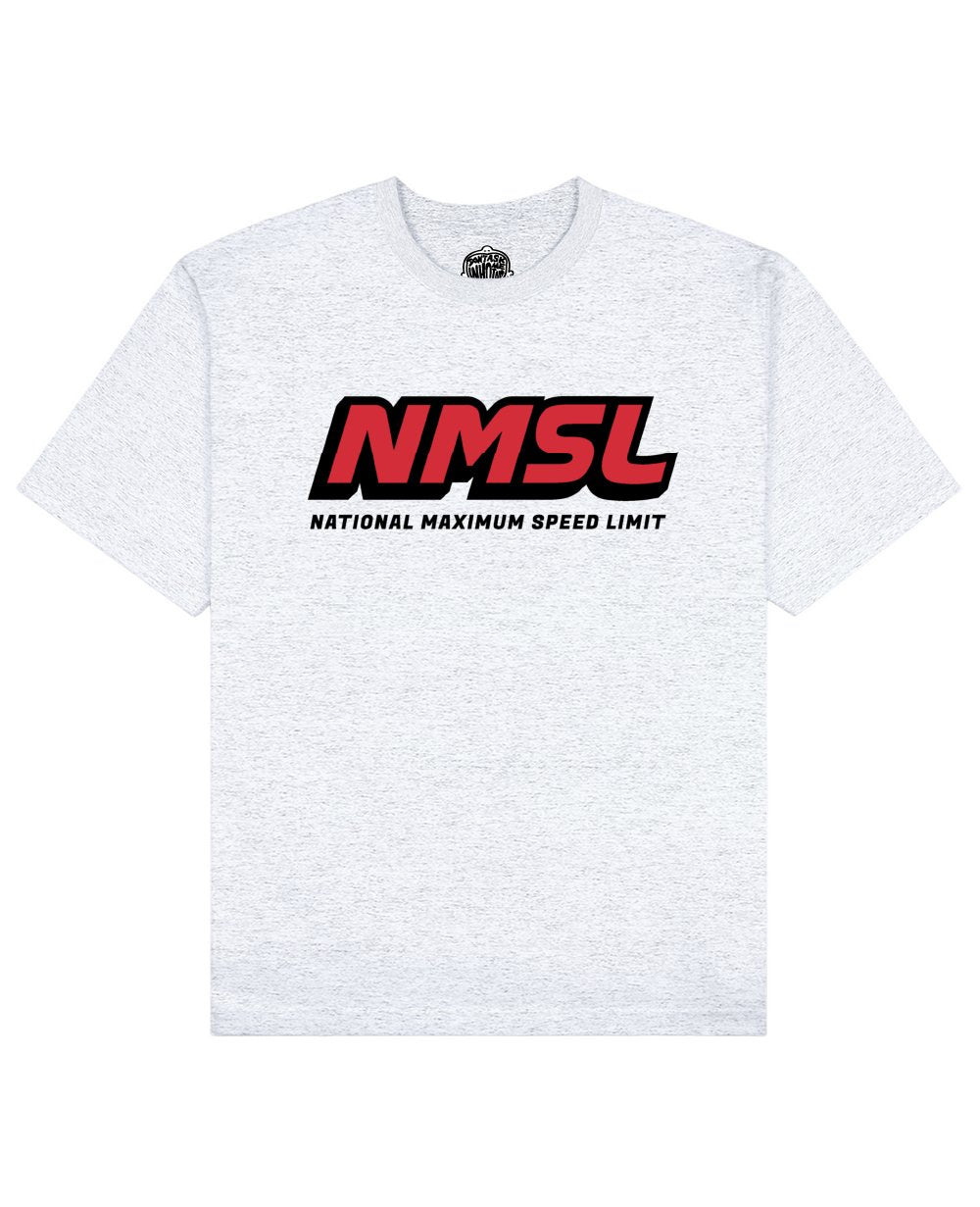 NMSL Print T-shirt in Light Gray - T-Shirts - Don't ask me who I am - BRANMA