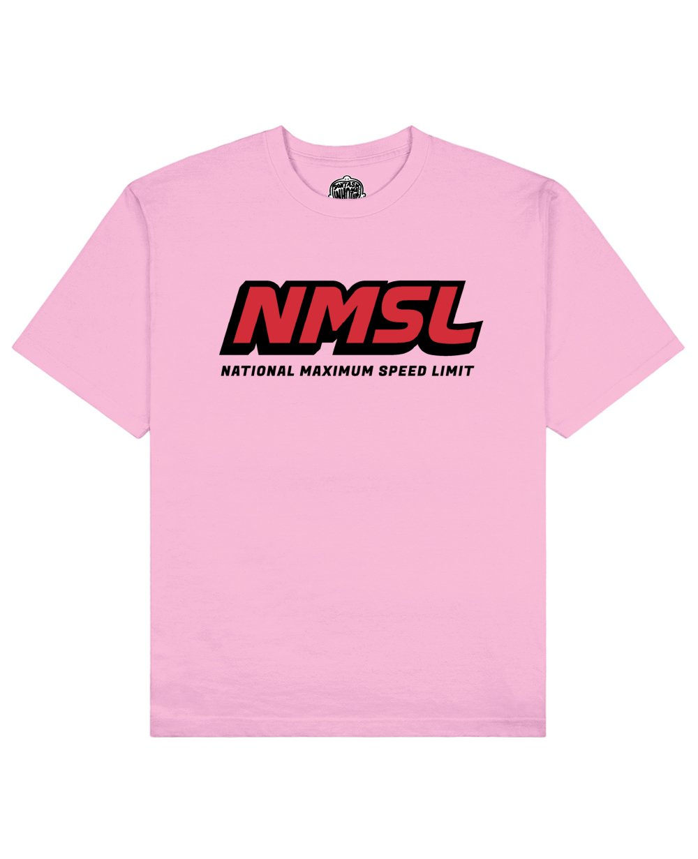 NMSL Print T-shirt in Pink - T-Shirts - Don't ask me who I am - BRANMA