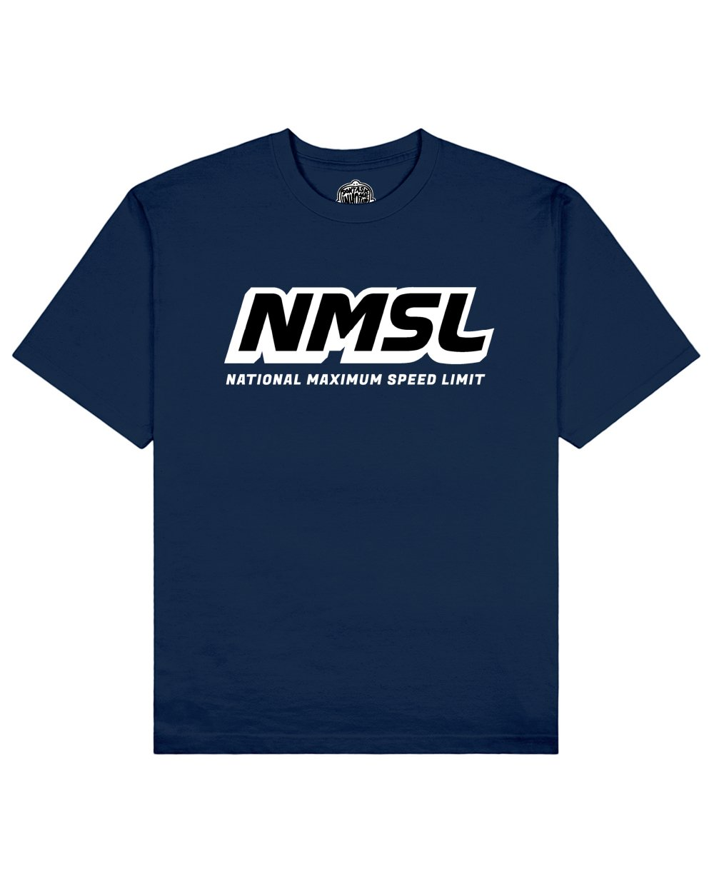 NMSL Print T-shirt in Blue - T-Shirts - Don't ask me who I am - BRANMA