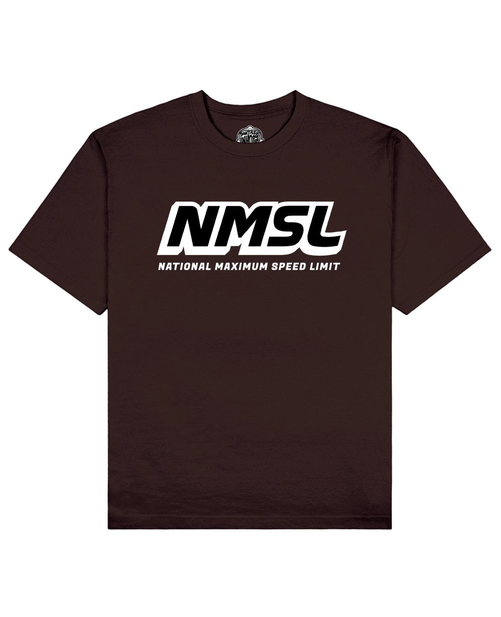 NMSL Print T-shirt in Brown - T-Shirts - Don't ask me who I am - BRANMA