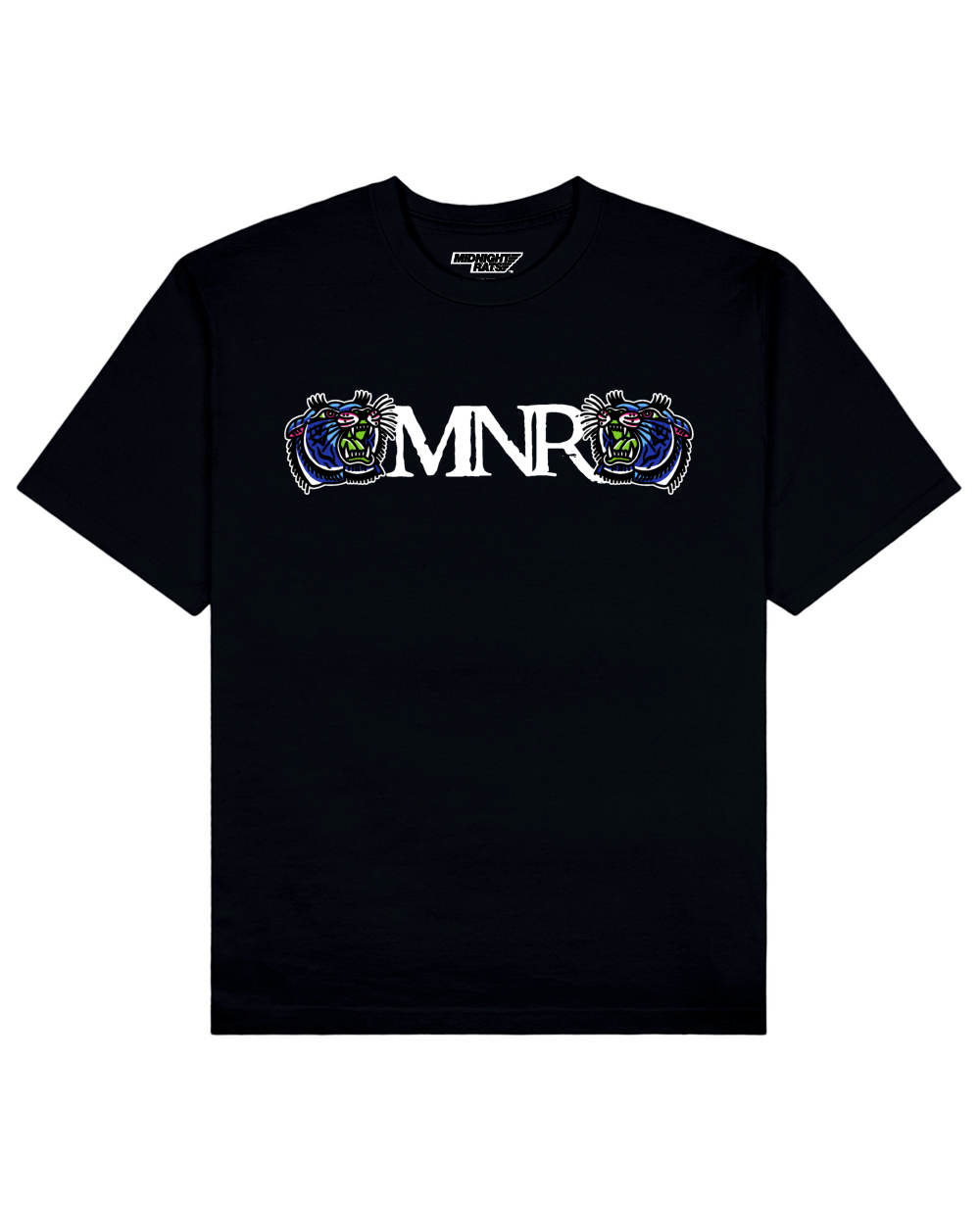 Signature MNR Print T-shirt in Black - T-Shirts - MIDNIGHT RATS - BRANMA