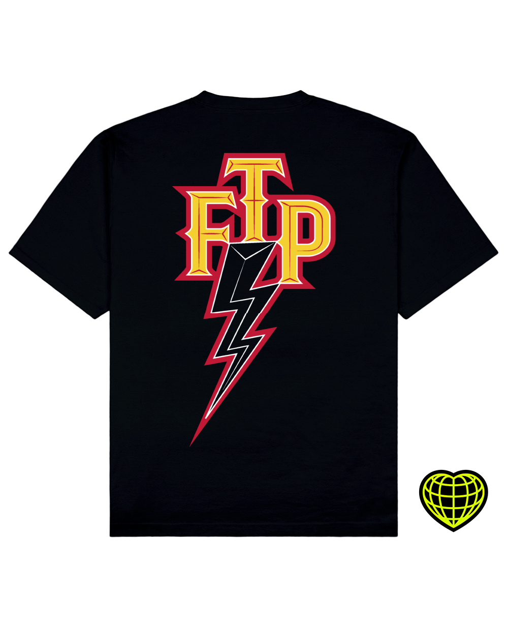 FTP Print T-shirt in Black - T-Shirts - MIDNIGHT RATS - BRANMA