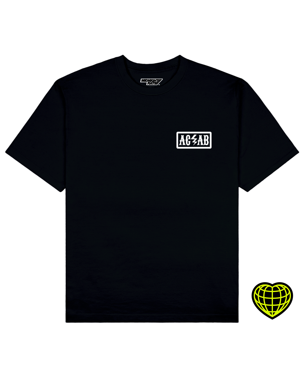 ACAB Print T-shirt in Black - T-Shirts - MIDNIGHT RATS - BRANMA