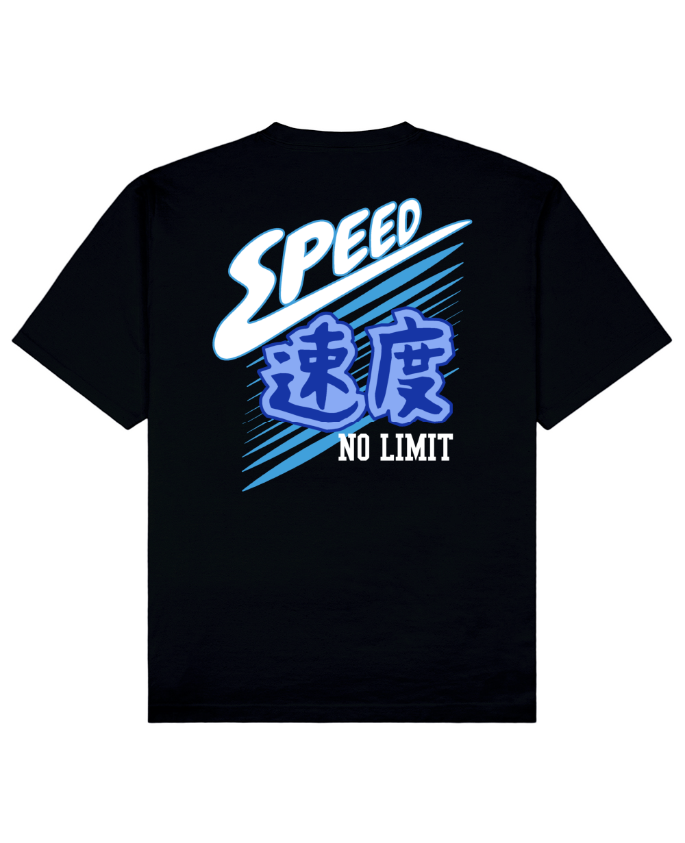 Speed No Limit Print T-shirt in Black - T-Shirts - MIDNIGHT RATS - BRANMA