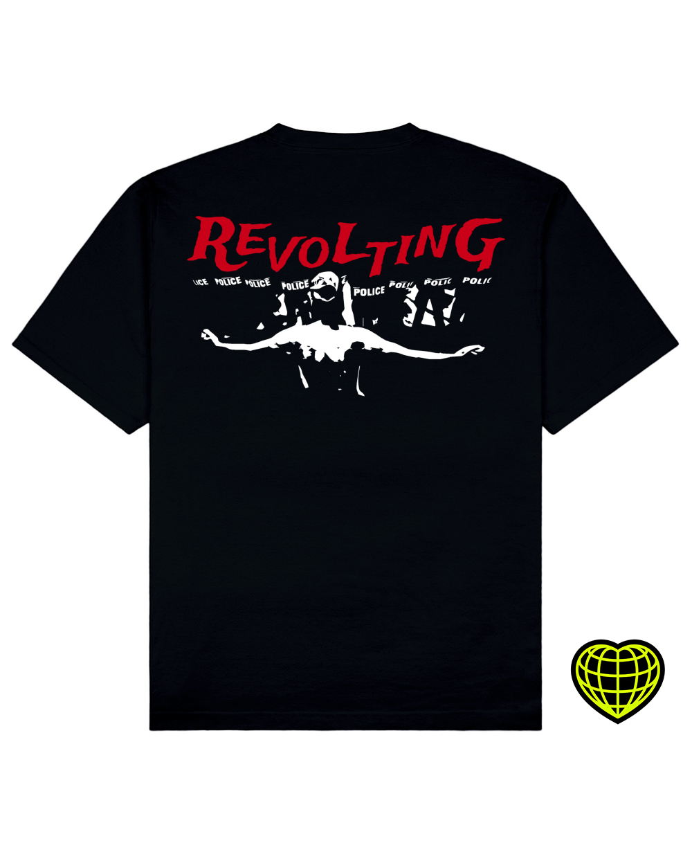Revolting Print T-shirt in Black - T-Shirts - MIDNIGHT RATS - BRANMA