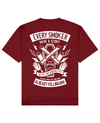 Smoker Print T-Shirt in Red - T-Shirts - MOBY DICK - BRANMA