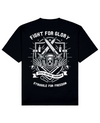 Fight For Glory Print T-Shirt in Black - T-Shirts - MOBY DICK - BRANMA
