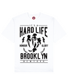 Hard Life Print T-Shirt in White - T-Shirts - MOBY DICK - BRANMA