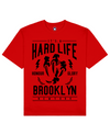 Hard Life Print T-Shirt in Red - T-Shirts - MOBY DICK - BRANMA