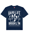 Hard Life Print T-Shirt in Blue - T-Shirts - MOBY DICK - BRANMA