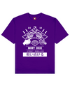 Street Rebellion Print T-Shirt in Purple - T-Shirts - MOBY DICK - BRANMA