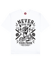 Never Lose Print T-Shirt in White - T-Shirts - MOBY DICK - BRANMA