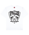 Only The Strong Print T-Shirt in White - T-Shirts - MOBY DICK - BRANMA