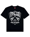 Only The Strong Print T-Shirt in Black - T-Shirts - MOBY DICK - BRANMA