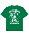 Revolution Print T-Shirt in Green - T-Shirts - MOBY DICK - BRANMA