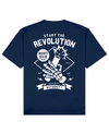 Revolution Print T-Shirt in Blue - T-Shirts - MOBY DICK - BRANMA